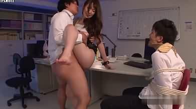 Boss Rape Secretary In Front Of Her Husband
