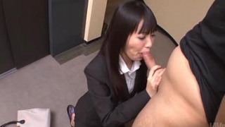 Young Japanese Secretary Sucking Boss For Promotion