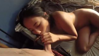 Amateur Asian Teen Plowed By Big White Cock