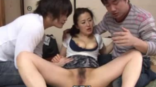 Hot Japanese Mom Enjoyed by Every Members of the House