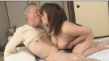 Old Japanese Man Having Sex with Big Boobs Daughter in Law