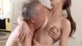 Beautiful Young Japanese Wife Fucking Oldie Neighbour