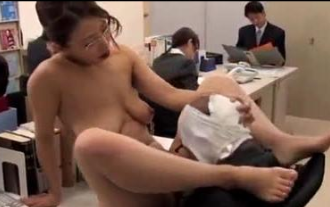 Japanese Office Sex Satisfying Tired Workers