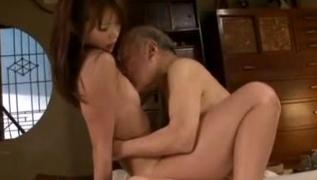 Pervert Grandpa Creams Granddaughter Megumi Shino