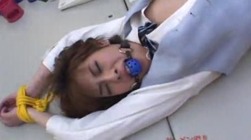 Japanese Girl Bound and Cum Facialized