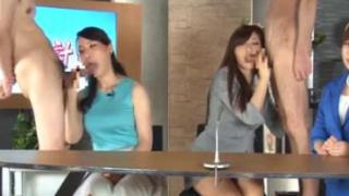 Japanese Live Newsroom Porn Gangbang