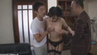 Japanese Wife Threesome Sex Fucked Like Slut