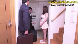 Big Tits Japanese Milf Fucking Husband's Friend