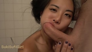 Japanese Wife Blowjob In Shower And Car